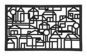 Kynnysmatto kaupunki mustaa kumia 75 x 45cm | Sisustusstudio Vitriini