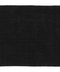 Juuttimatto Fiona musta 120 x 70 cm Sisustusstudio Vitriini