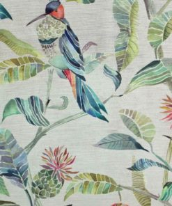 Colyford Velvet kangas verhoilukangas luonto lintu Voyage Sisustusstudio Vitriini