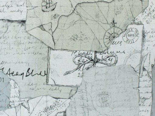 Tutkimusmatkailija kangas Explorer Voyage Sisustusstudio Vitriini