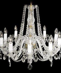 Kristallikruunu Titania Lux Sisustusstudio Vitriini korkealuokkainen moderni kristallivalaisin