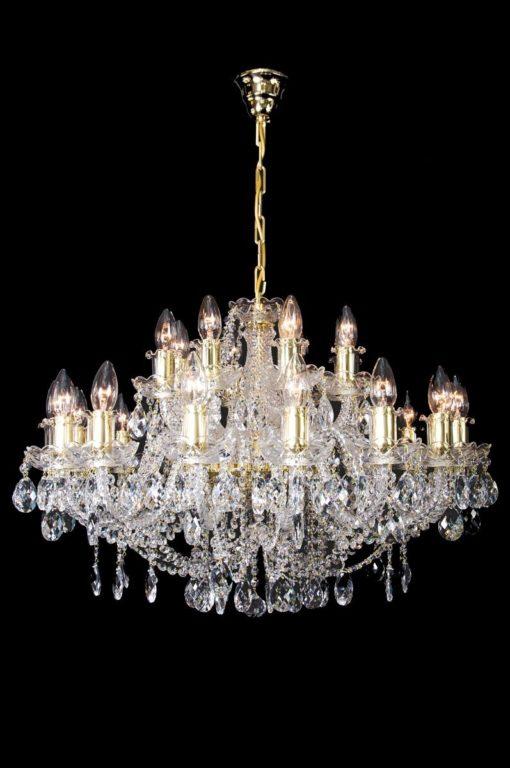Kristallikruunu Titania Lux 843 Sisustusstudio Vitriini moderni kristallilamppu