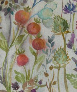 Hedgerow kangas oranssi verhokanga kauniskoti Voyage Sisustusstudio Vitriini