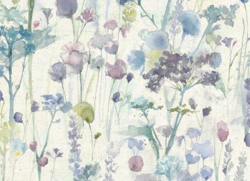 verhokangas violetti kukka Voyage Sisustusstudio Vitriini