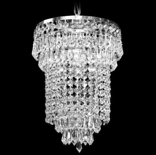 Kristallivalo kristallikruunu Titania Sisustusstudio Vitriini