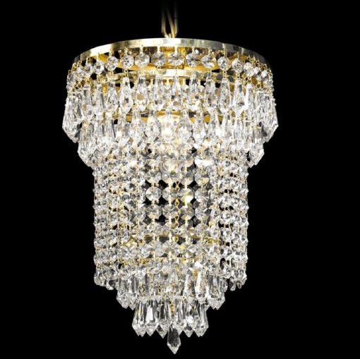 Eteisen lamppu moderni kristallilamppu Titania Sisustusstudio Vitriini