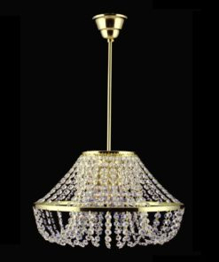 Kristallivalo kruunu riippuva lamppu Titania Sisustusstudio Vitriini