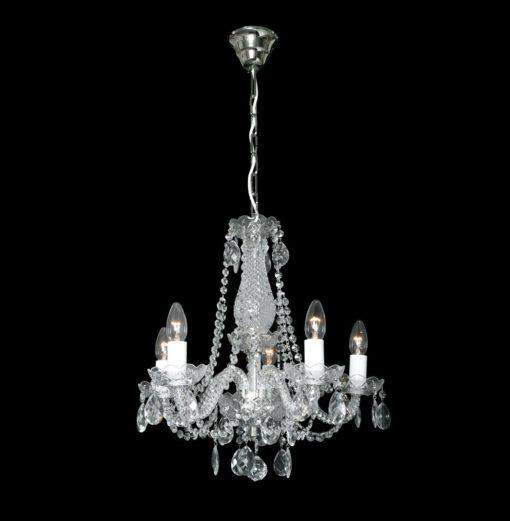 Kauniskoti kristallilamppu kristallivalaisin Titania Sisustusstudio Vitriini