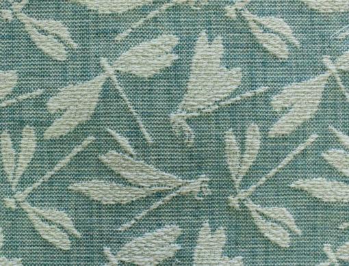 vihreä sudenkorento verhoilukangas Voyage Sisustusstudio Vitriini