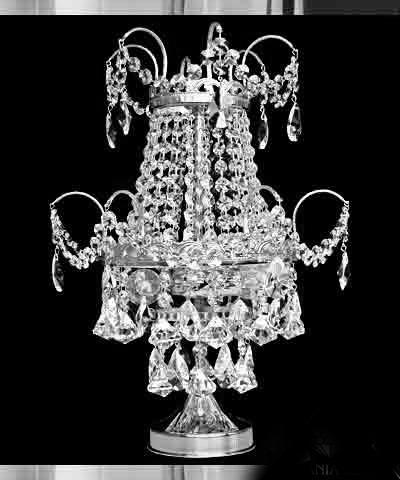 Pöytälamppu kristallilamppu Sisustusstudio Vitriini Tsekkiläinen kristalli