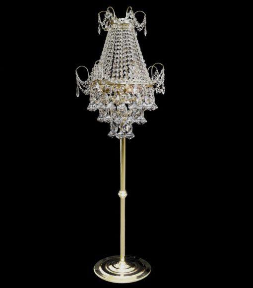 Lattiavalaisin kristallilamppu jalkalamppu Titania tsekki Sisustusstudio Vitriini