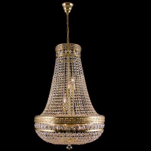 Perinteinen kristallivalaisin kritallilamppu kristallikruunu Titania Sisustusstudio Vitriini