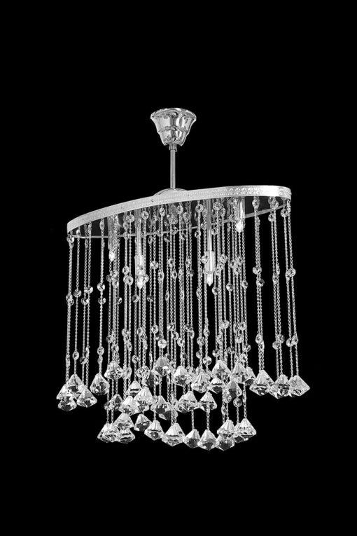 moderni kattolamppu tsekkiläinen kristallikruunu Sisustudio Vitriini