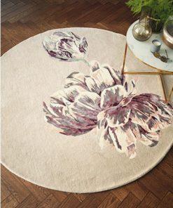 Ted Baker villamatto pyöreä kukka matto beige
