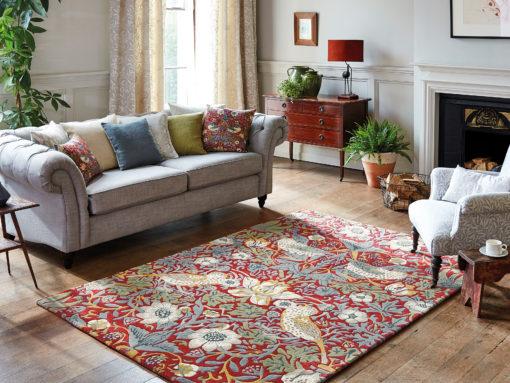 William Morris villamatto olohuoneen punainen Sisustusstudio Vitriini