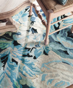 Sininen sisustus villamatto laadukas Sisustusstudio Vitriini