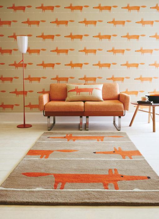 kettu nukkamatto oranssi matto akustiikka Sisustusstudio Vitriini harlequin