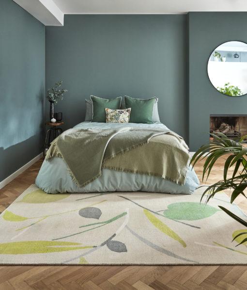 makuuhuoneen matto kaunis Harlequin Sisustusstudio Vitriini