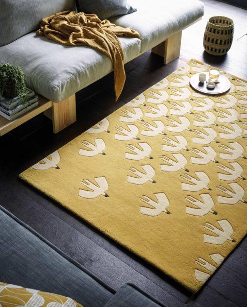 Pehmeä matto kodin sisustus akustiikka olohuoneen matto