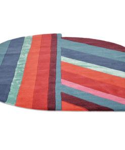 Sisustusstudio Vitriini villamatto matto Ted Baker geometrinen raita punainen turkoosi