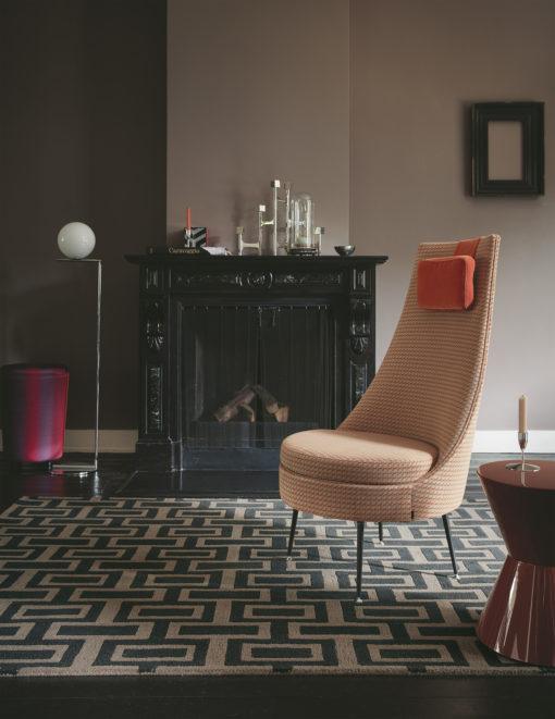 Takkahuoneen matto neliö villamatto Harlequin Sisustusstudio Vitriini