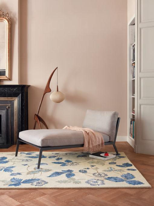 Sininen matto villamatto paksu akustiikka Sisustusstudio Vitriini