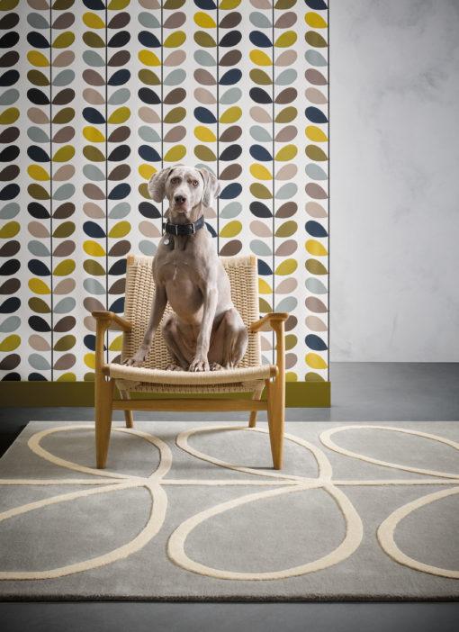 villamatto matto harmaa moderni lehtikuvio Sisustusstudio Vitriini