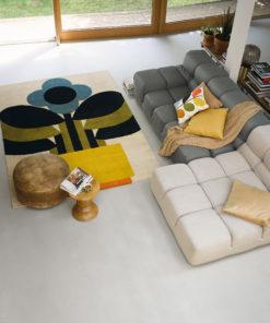 villamatto matto retro kukkakuvio sisustus Sisustusstudio Vitriini