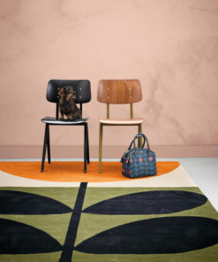matto retro värikäs musta oranssi Sisustusstudio Vitriini