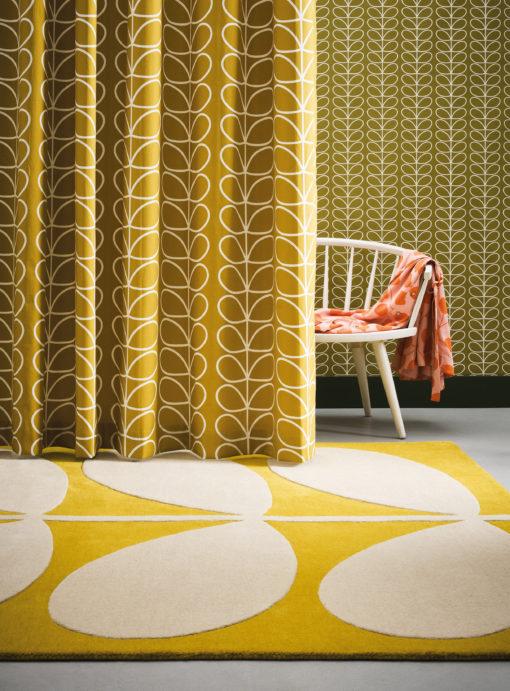 villamatto matto sisustus keltainen retro moderni Sisustusstudio Vitriini